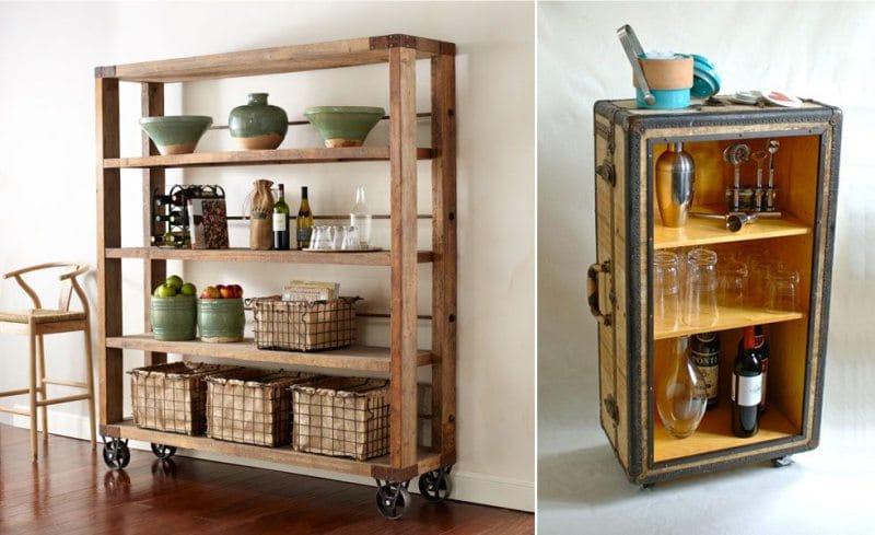 Стеллаж для кухни — лучшие материалы и 5 вариантов размещения