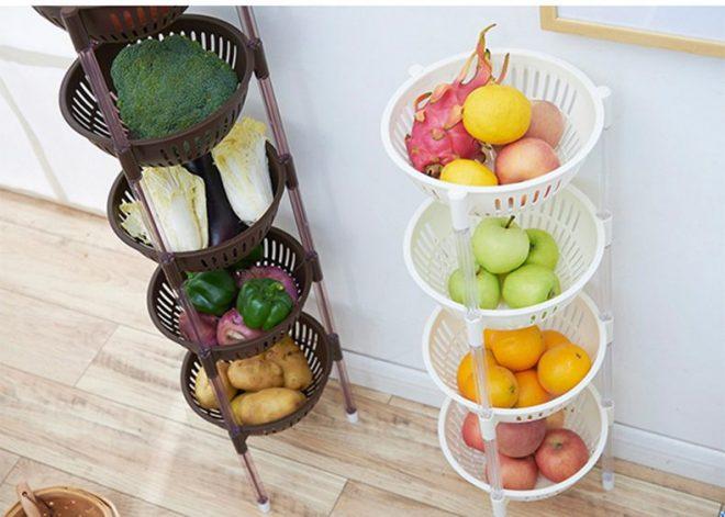Этажерки для хранения овощей и фруктов