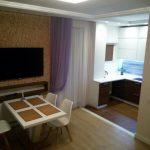 Дизайн современной кухни-гостиной площадью 40 кв.м