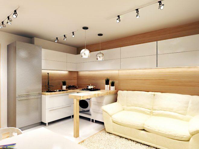 Кухня гостиная 14 кв м