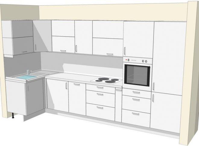 Зазоры между фасадами кухни