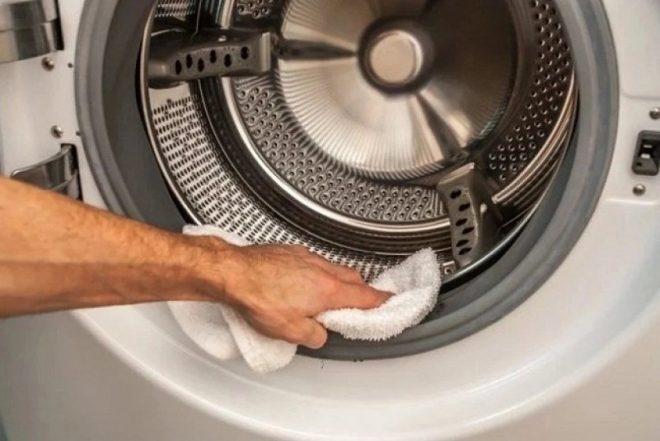 Чистка стиральной машины руками