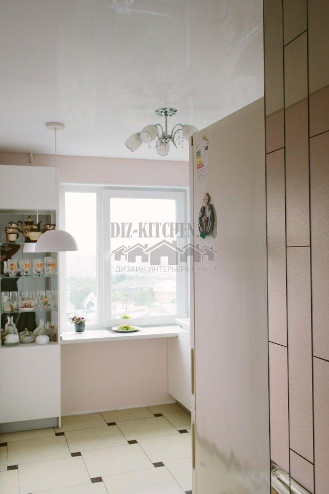 Холодильник возле мойки