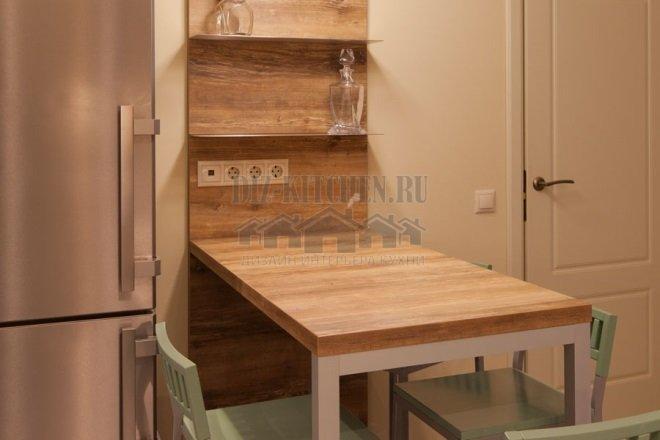Обеденный стол цвета состаренного дуба