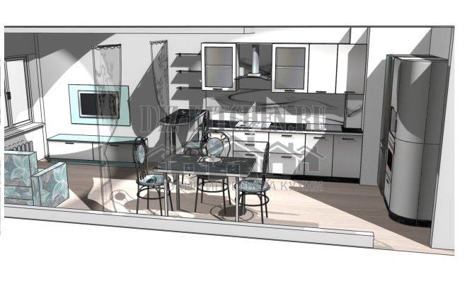 Проект кухни-гостиной