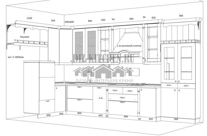 Проект кухни Искья на компьютере