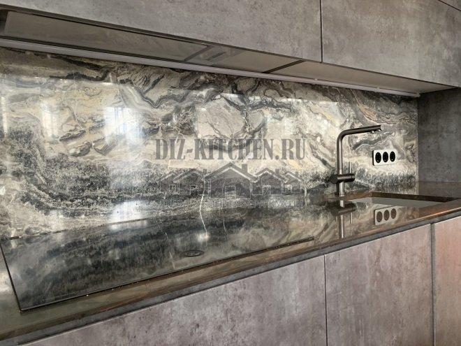 мраморный фартук Мрамор Arabescato Orobico Grigio