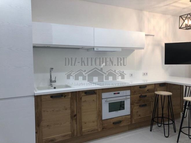 Бело-коричневая кухня Дамиана