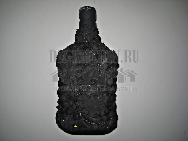 """Мастер-класс по изготовлению бутылки в морском стиле, выполненной в технике """"декупаж"""""""