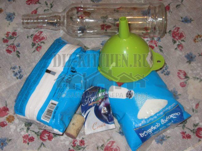 Мастер-класс по созданию бутылки с солью в морском стиле