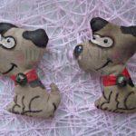 Кофейная игрушка на магните «Веселая собачка»