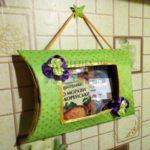 Органайзер-салфеточница для кухни из картонной коробки