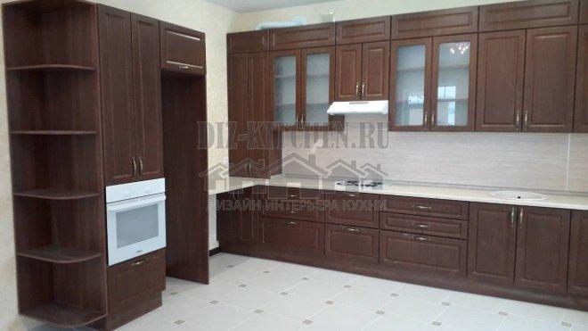 Неоклассическая коричневая кухня