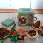 Ароматизированная свеча для декора кухни