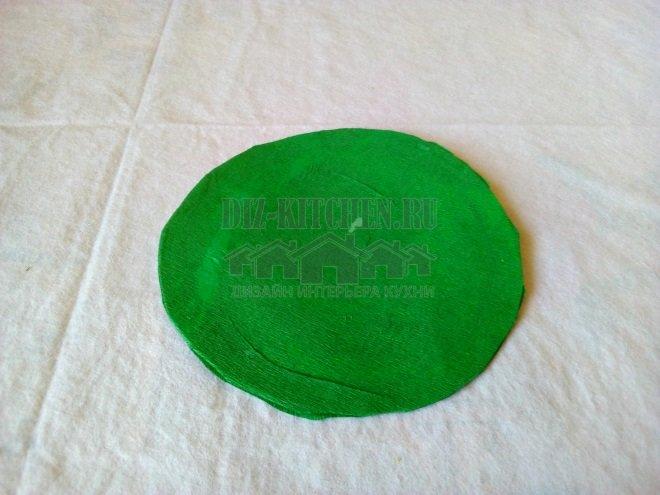 Зеленое дно корзинки