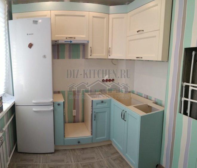 Желто-голубая кухня Палермо