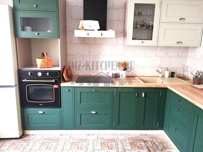 Зеленая кухня Шейкер