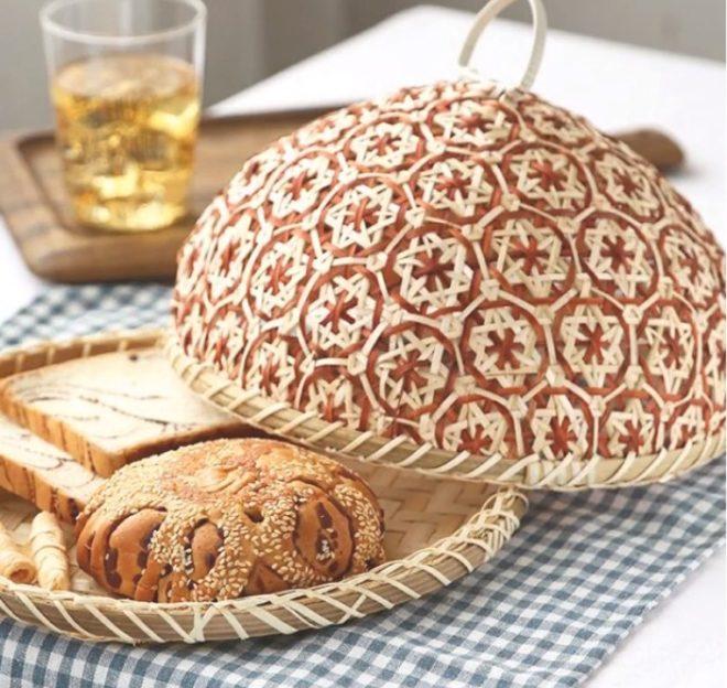Плетеная хлебница из бамбука