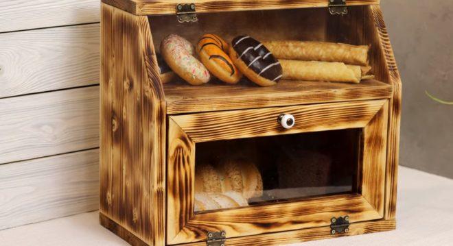 Хлебница с двумя отсеками