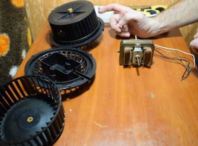 Обмотка мотора вытяжки