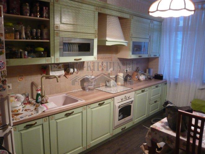Нежно-зеленая кухня Вилладжо