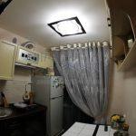 Маленькая прямая кухня 5 кв. м из ясеня