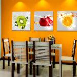 Как украсить кухню с помощью модульных картин?