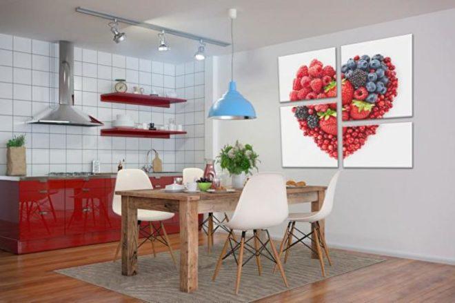 Модульные картины ягоды