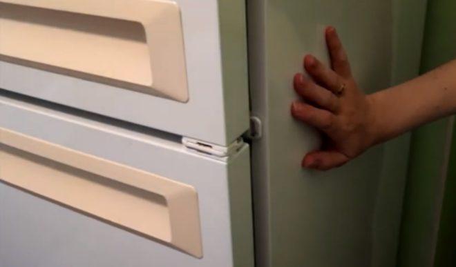 Деформация стены холодильника