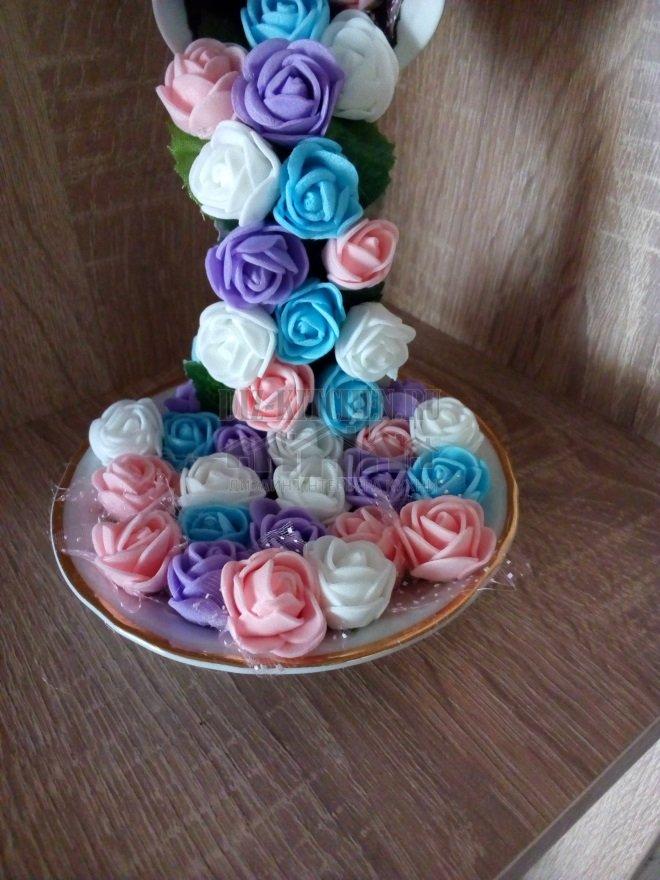 """Парящая чашка """"Водопад из роз"""""""