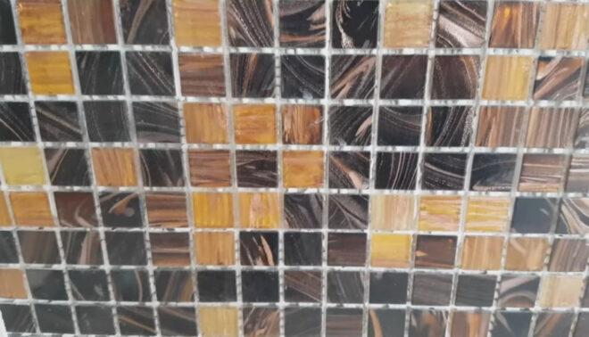 Фартук из керамогранитной мозаики